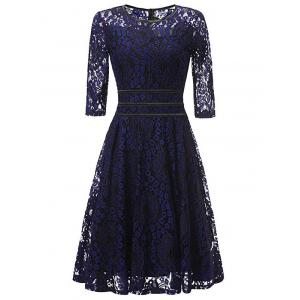 Lace Floral Vintage Cocktail Dress