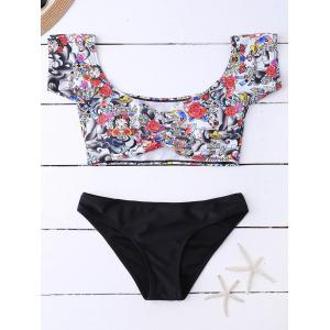 Printed Floral Off The Shoulder Bikini