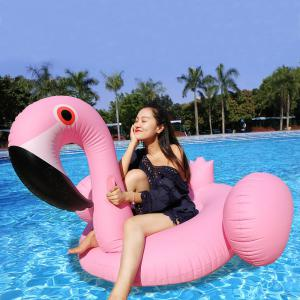 Inflatable PVC Flamingo Shape Floating Row - Pink