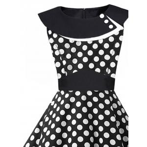 Vintage 1950 Polka Dot Pin Up Dress -