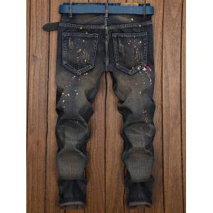 Splatter Paint Ripped Nine Minutes of Jeans -