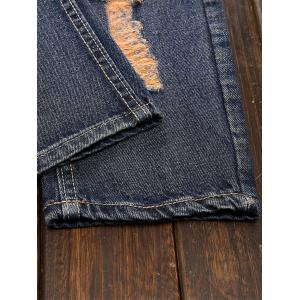 Cuffed Ripped Design Nine Minutes of Jeans -