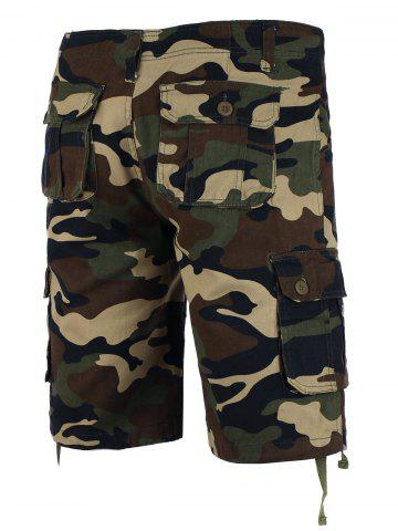 Discount Zipper Fly Camo Shorts - 36 CAMOUFLAGE Mobile