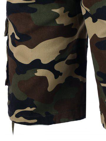 Fancy Zipper Fly Camo Shorts - 36 CAMOUFLAGE Mobile