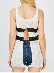 High Slit Knit Tank Top