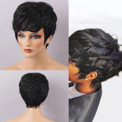 Short Texture Curly Layered Cut Capless Human Hair Wig