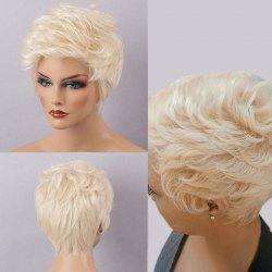 Short Curly Layered Hairstyle Fluffy Capless Human Hair Wig