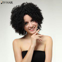 Siv Hair Medium Dyeable Kinky Curly Lace Frontal Human Hair Wig