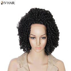 Siv Hair Medium Kinky Curly Dyeable Lace Frontal Human Hair Wig