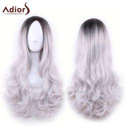 Adiors long Moyen Partie Gradient onduleux synthétique cosplay Lolita perruque - Gris Noir