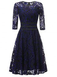 Lace Floral Vintage Cocktail Dress -
