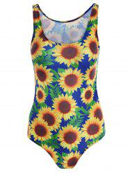 Open Back Sunflower Swimwear