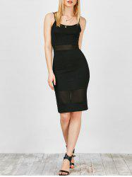 Mesh Panel Bodycon Slip Club Dress