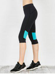 Capri Workout Two Tone Running Leggings