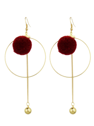 Ball Circle Bead Drop Earrings