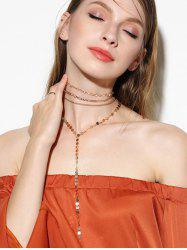 Disc Circle Chain Necklace Set