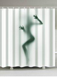 Bath Decor Art Female Shadow 3D Shower Curtain