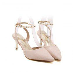 Faux Pearls Pointed Toe Pumps