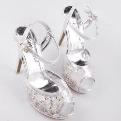 Peep Toe Metallic Colour Sandals