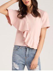 Ruffle Layer Cropped Tee