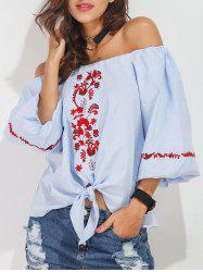 Off The Shoulder Embroidered Blouse -