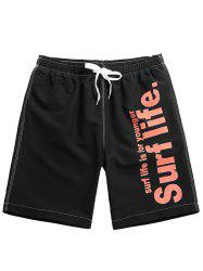 Drawstring Graphic Casual Shorts