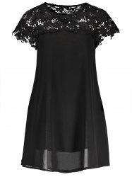 Lace Crochet Chiffon Dress