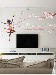 Pvc A Blossom Faerie of Brilliant Flower Wall Decal Sticker