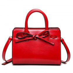 Bowknot Faux Leather Tote Bag