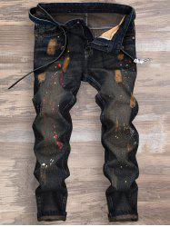 Splatter Paint Ripped Nine Minutes of Jeans
