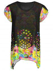 Plus Size Floral Chiffon Tunic Top