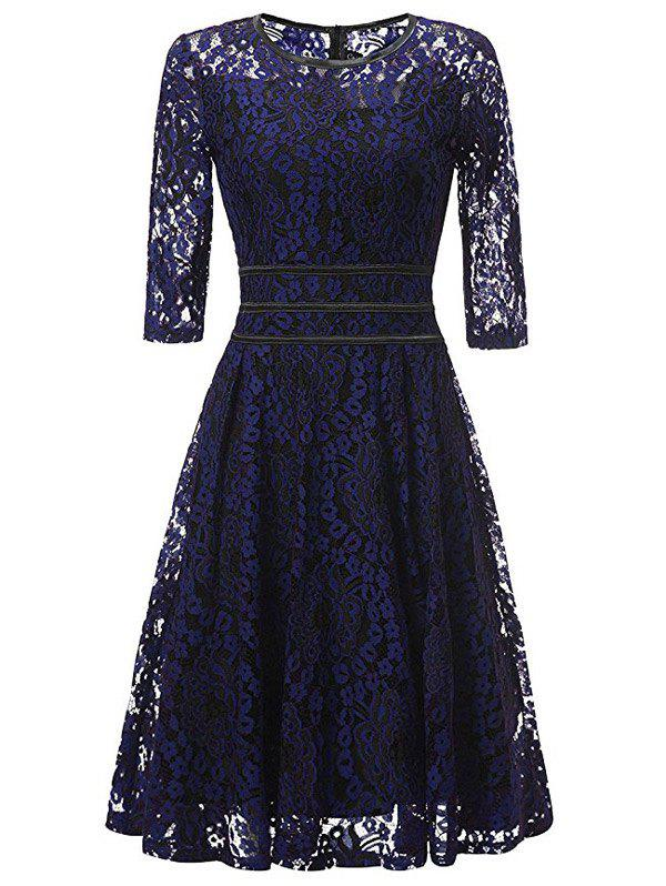 Hot Lace Floral Vintage Cocktail Dress