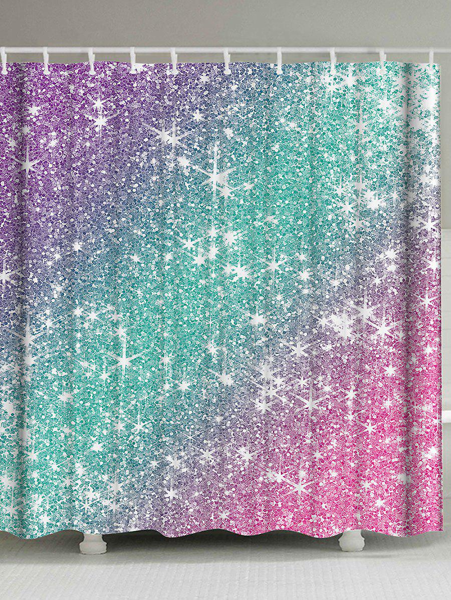 Ombre Shimmer Background Pattern Shower CurtainHOME<br><br>Size: W59 INCH * L71 INCH; Color: COLORMIX; Products Type: Shower Curtains; Materials: Polyester; Style: Formal; Number of Hook Holes: W59inch*L71inch: 10;  W71inch*L71inch: 12;  W71inch*L79inch: 12.; Package Contents: 1 x Shower Curtain 1 x Hooks(Set);