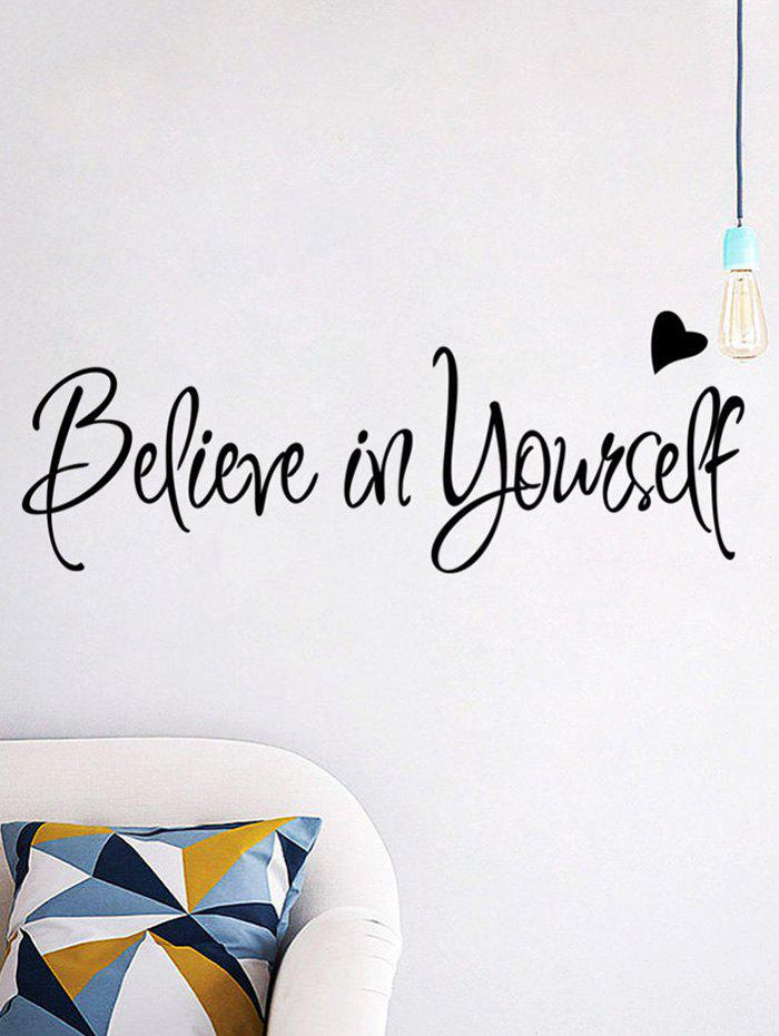 Chic Believe in Yourself Inspirational Slogan Wall Sticker
