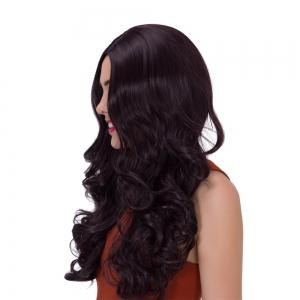 Adiors Long Fluffy Wavy Middle Parting Synthetic Wig -