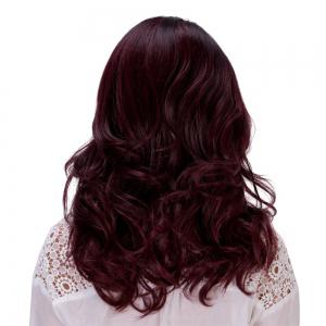 Charming Fluffy Long Wavy Capless Mixed Color Synthetic Adiors Wig For Women -