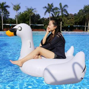 Inflatable PVC Swan Shape Floating Row - White