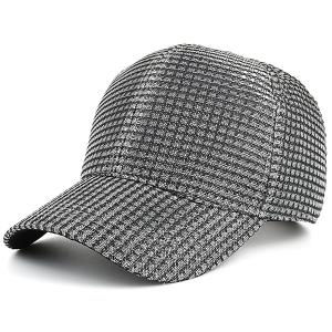 Cannetille Fabric Plaid Baseball Cap