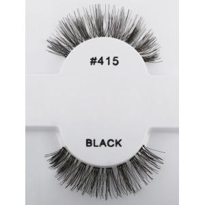 1 Pair Natural Dense False Eyelashes -