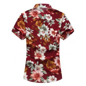 Short Sleeve Hawaiian Printed Floral Shirt -