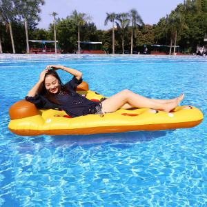 Pizza Shape Inflatable Swimming Float - Mandarin - 7cm