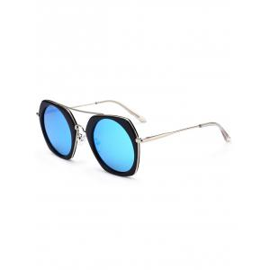 Geometric Reflective Polarized Sunglasses