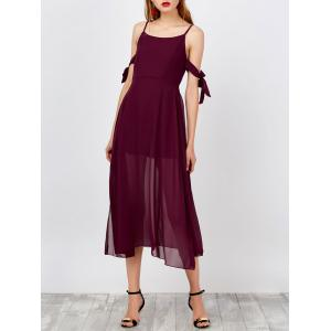 Spaghetti Strap Side Slit Chiffon Boho Dress
