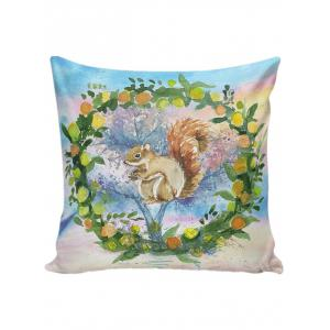 Watercolor Squirrel Throw Decorative Pillow Case