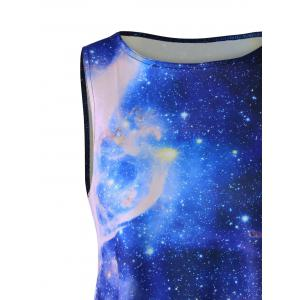 Plus Size Galaxy Sleeveless A Line Short Dress -