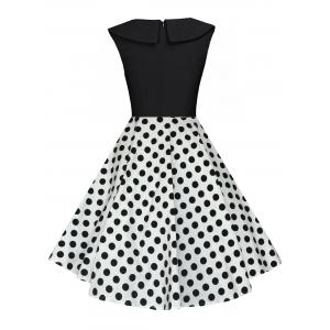 Polka Dot Swing Pin Up A Line Dress -