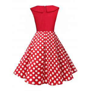 Polka Dot Swing Pin Up Dress - RED L