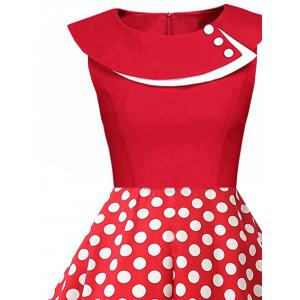 Polka Dot Swing Pin Up une robe de ligne -