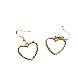 Love Heart Earrings - Golden