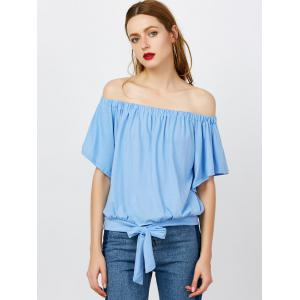Off The Shoulder Tied Front Top -